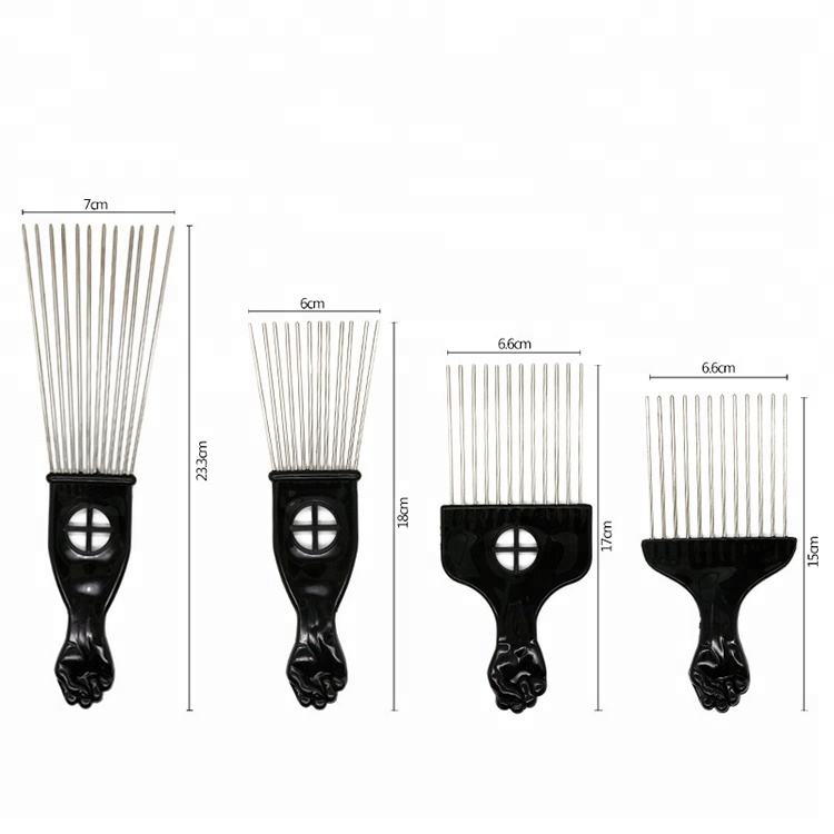 Comprar Barber Hair Styling Pik Picareta Afro Pente de Cabelo do Metal