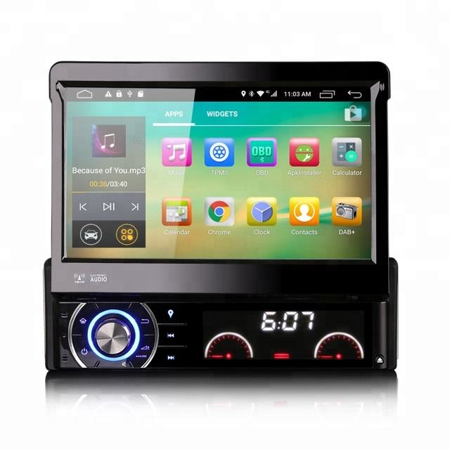 Erisin ES5790U Android 6.0 Detachable 1 din HD In dash Coche Autoradio Player GPS SPMS 4G WiFi DVR