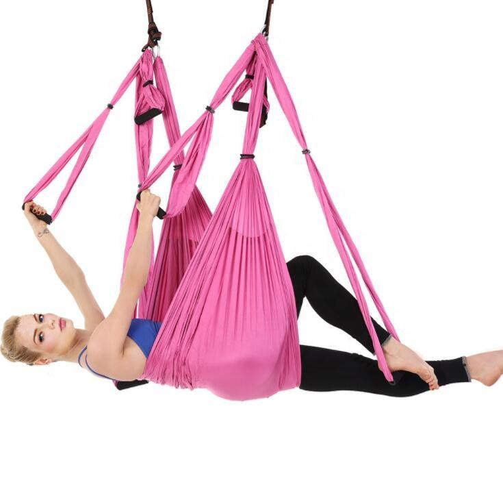 Fitness equipment yoga swing for spine decompression hip flexor opening tricep stretching and more exercise