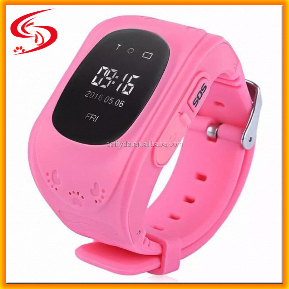 Hot new best mobile phone GPS SOS Q5 smart watch for kids