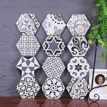 Handmade Moroccan Style Cement Look 200X230 Glazed Decorative Hexagon Ceramic Tile