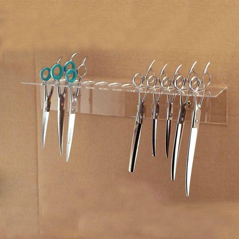 Barbiere 12 di Taglio Acrilico Scissor Holder Rack