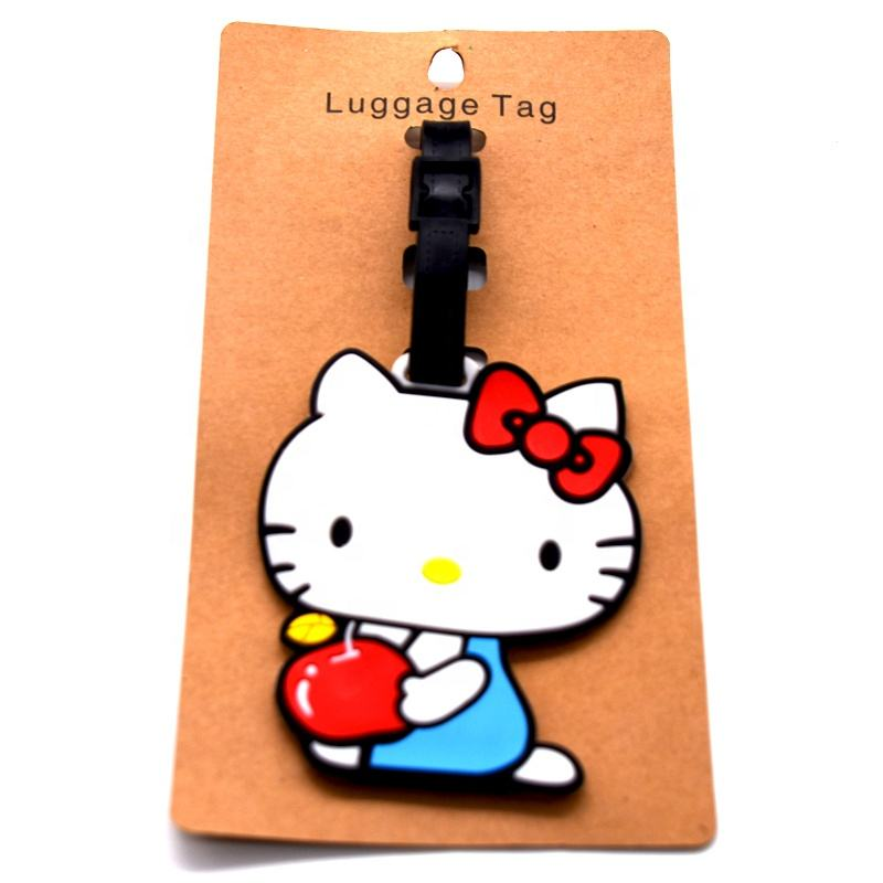Custom cute soft silicone rubber travel luggage tag for promotion gift