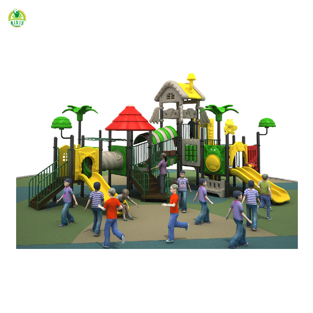 Latest nature style playgrounds QX-017B/ adventure playground equipment/ big kid playground/ preschool play