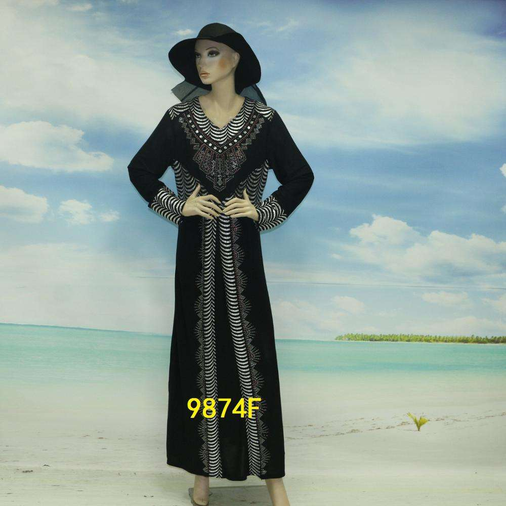 Wholesale Muslim Woman Dress Arabic Abaya Long Sleeve Islamic Clothing Abaya Dubai Models China Supplier Abaya