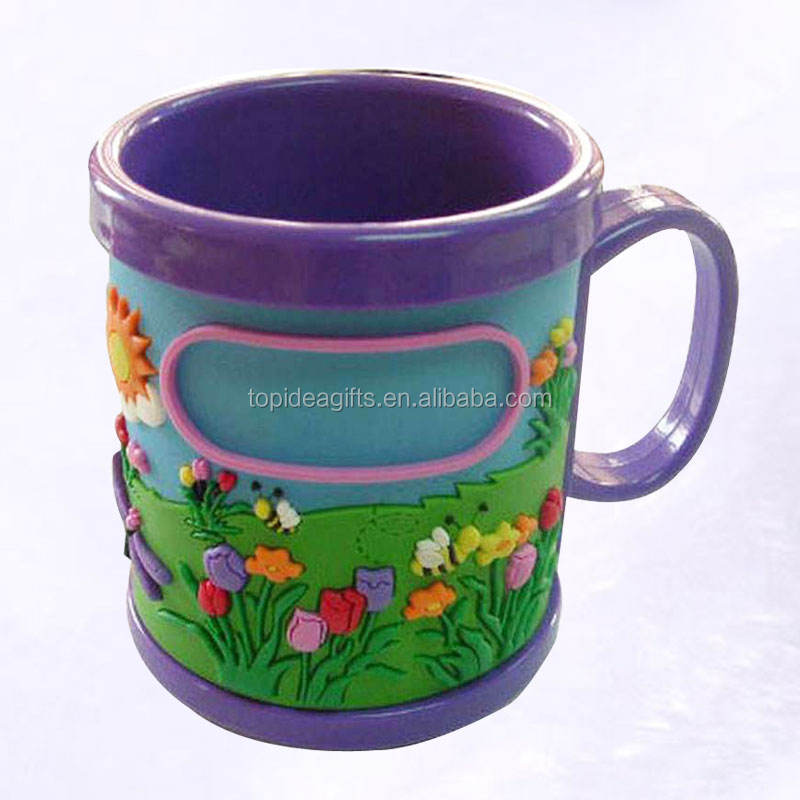 OEM cute promotional soft silicone or pvc cup mug