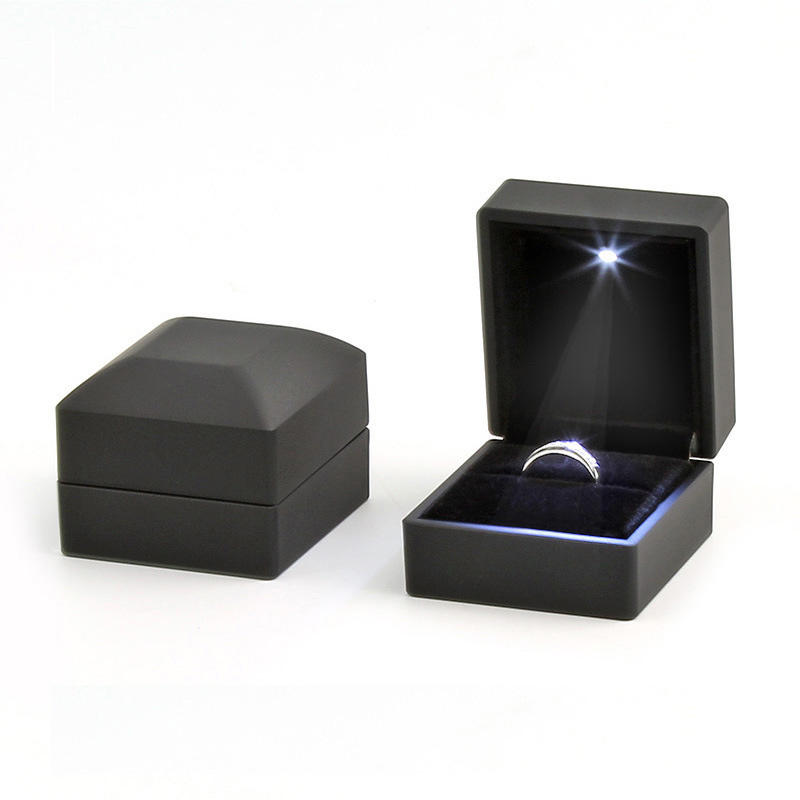 wholesale and retail led light ring box jewelry box