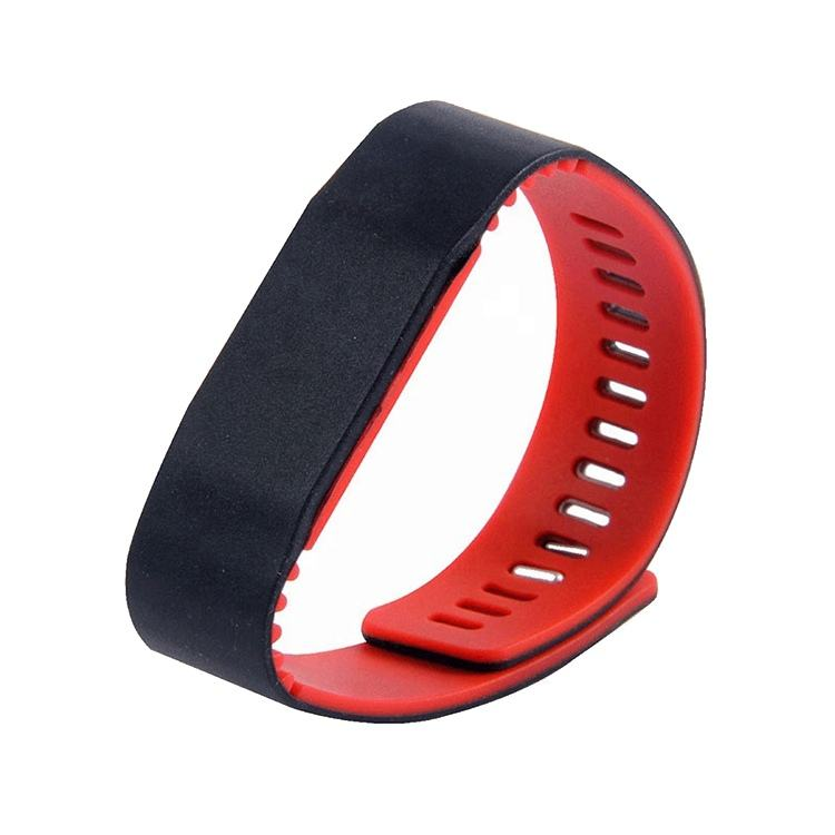 Waterproof 13.56MHZ RFID M1 Smart IC Silicone WristBand Watch Card RFID1108