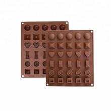 Benhaida High quality various shapes 30 cavity silicone chocolate ice cube mould