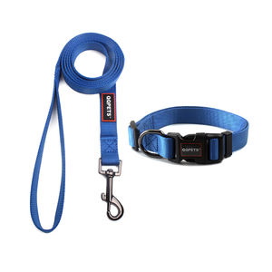 Wholesale small dark navy blue nylon dog collar and leash pet supplies