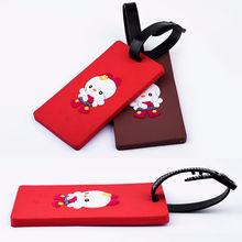 Eco-Friendly Material Identification Cartoon character soft pvc luggage tag