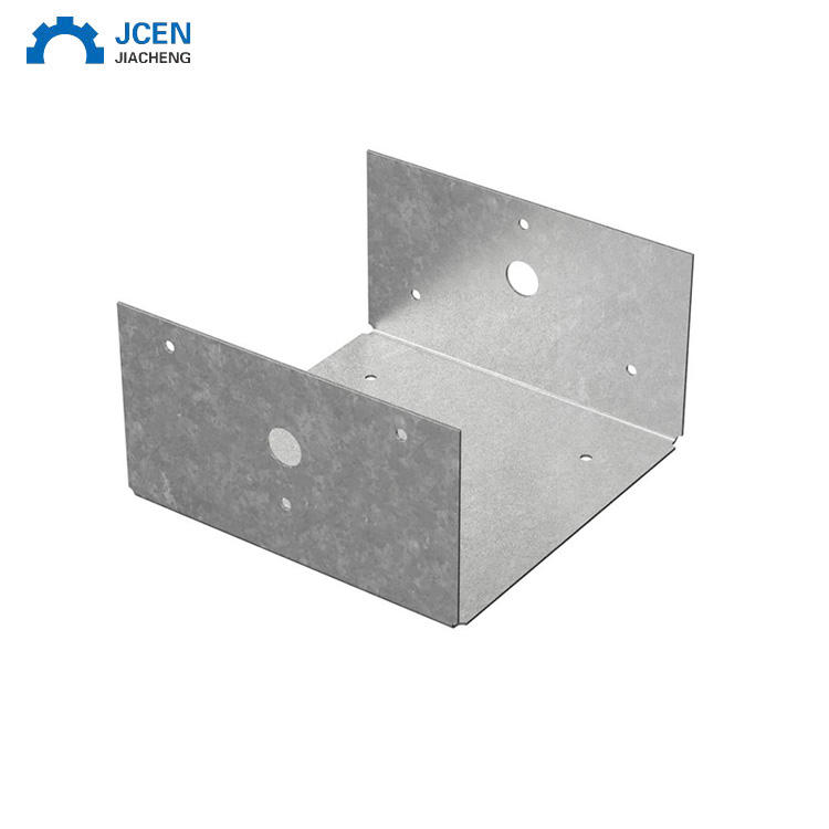Custom Galvanized Metal Post Support Square Post Brackets