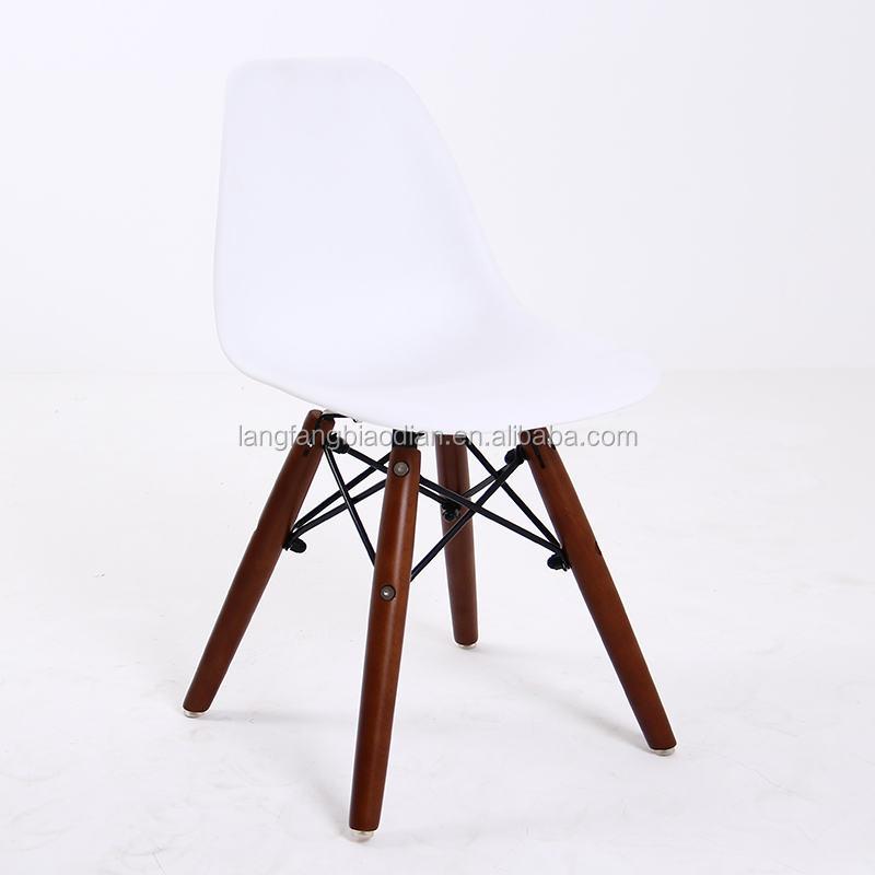 Alta qualidade PP assento perna crianças mobiliário cadeira de madeira