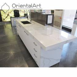 Calacatta Novo Quartz Countertops with Veins