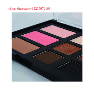 Private Label Rouge 9 farben lidschatten mit erröten make-up lidschatten palette