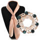 Fashionable Pearl Brooch Pin Opal Stone Flower Scarf Clip Crystal Pashmina Loop Hijab Pin DCR0190