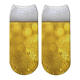 Beer Bubble 3D Full Printed Custom Ankle Sock Women Beverage Soda Funny Cotton Short Socks