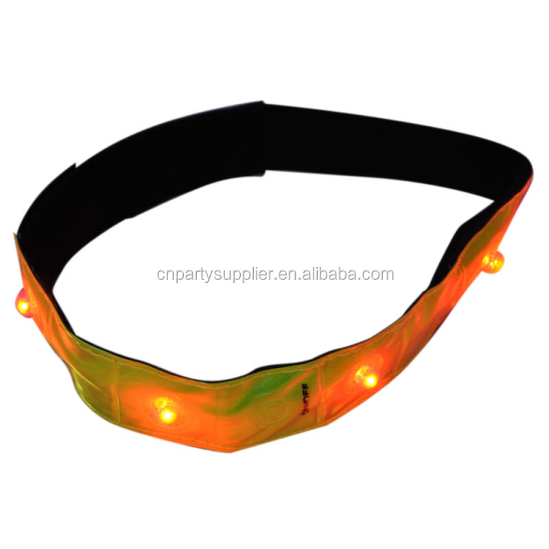 Hot Sale LED Strip Konektor Reflektif Tamparan Gelang Snap On Senter LED untuk Acara