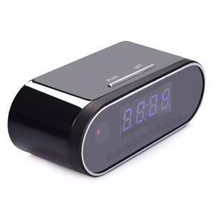 NZ01 desk table spy security alarm motion detection 1080p hd hidden camera wireless clock