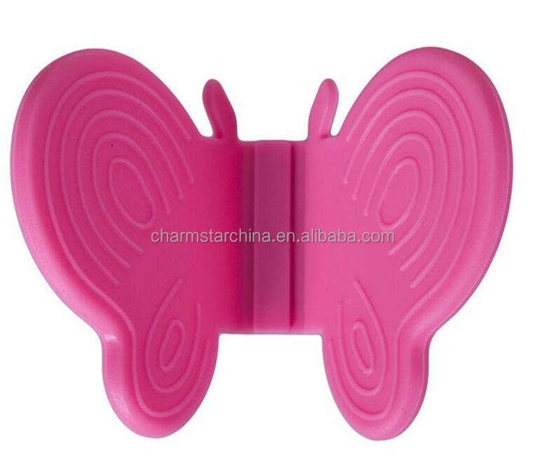 Butterfly Shaped Heat Resistant Magnetic Silicone Oven Mitt/Pot Holder