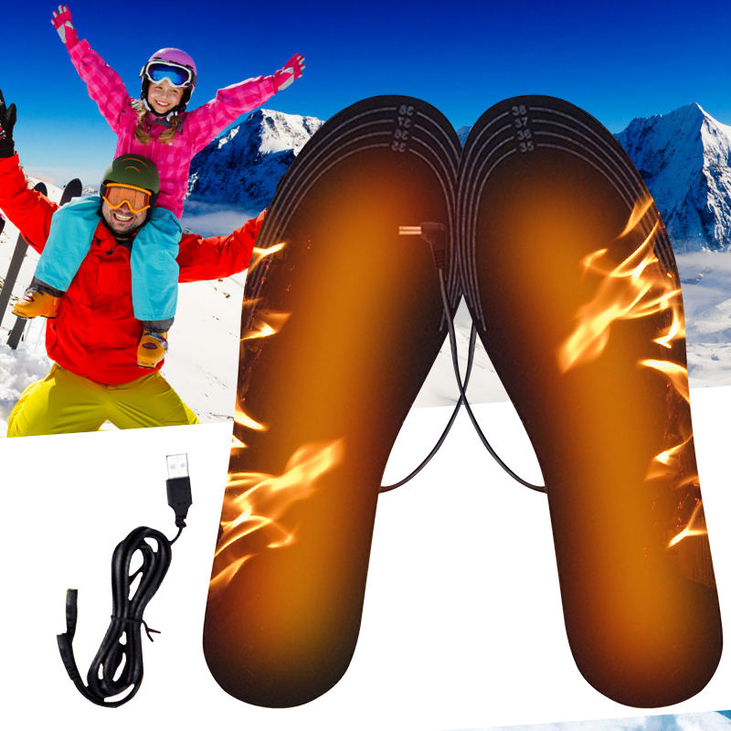 USB Heated Insoles Cuttable Insoles Winter Electric Heating Shoes Pad For Carbon Fiber Heating Shoes Keep Feet Warmer