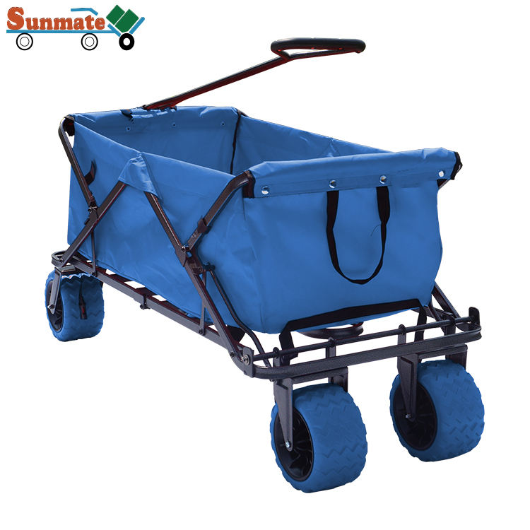 latest technology multifunction collapsible high capacity beach camping folding outdoor rolling trolley manufacturers