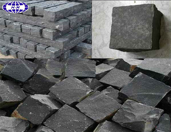 Natural Hainan Black Basalt Stone