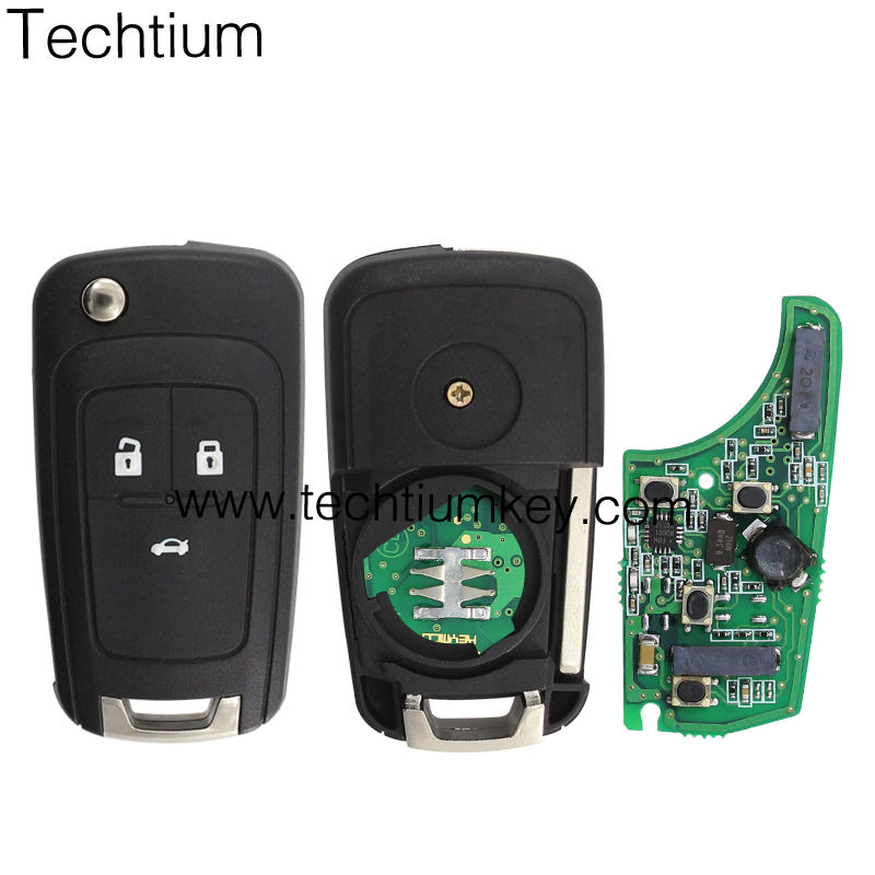 Keyless entry Keyless go 3 Button Flip Remote Key Car Key With 433 Mhz and logo For Chevrolet