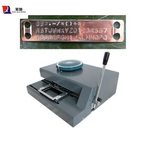 ZIXU Hot Sale Stainless Steel Dog Tags Embosser Manual Card Embossing Machine