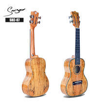 wholesale New China Spalted Maple Slotted Headstock Concert Ukulele