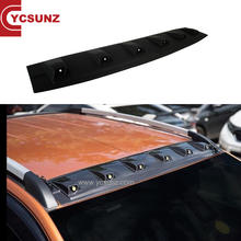 YCSUNZ Front Roof Spoiler Cover Black + LED  Fit Ranger Pickup 2015 - 2020 Car Accessories