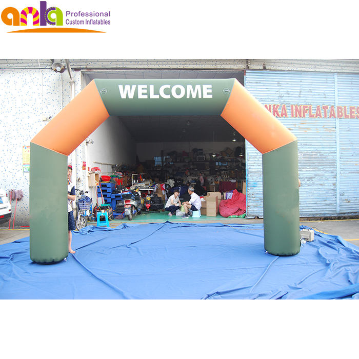 Custom giant welcome inflatable start finish line inflatable entrance arch
