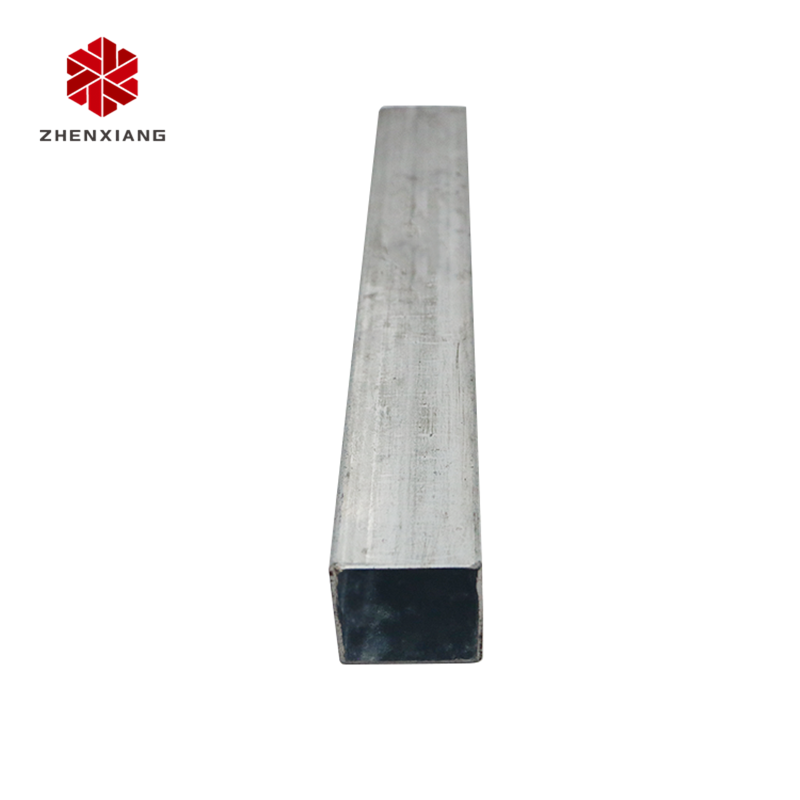 ZhenXiang ms making machine rectangle welded hot dip steel pipe galvanized square tube