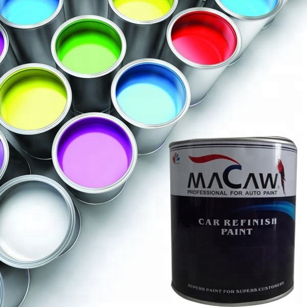 High gloss 2K solid color car paint carmine topcoat fast dry thinner slow dry hardener car paint