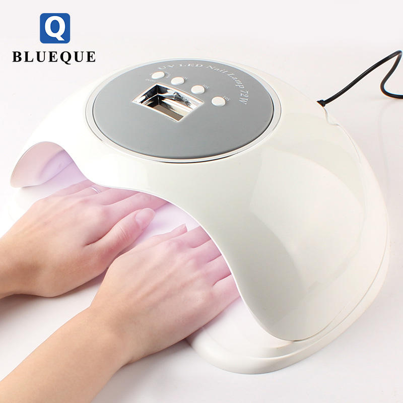 Professional 72W Quickly Gel Polish Dryer Curing Light with Large space UV LED Nail Lamp