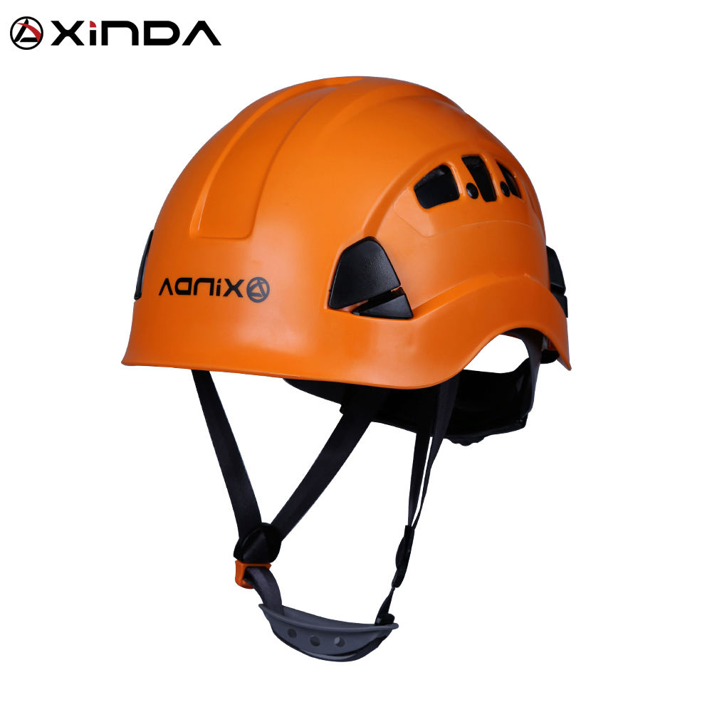 XINDA professional rock climbing helmet safety tree arborist zip line caving rappelling rescue head protection hard hat