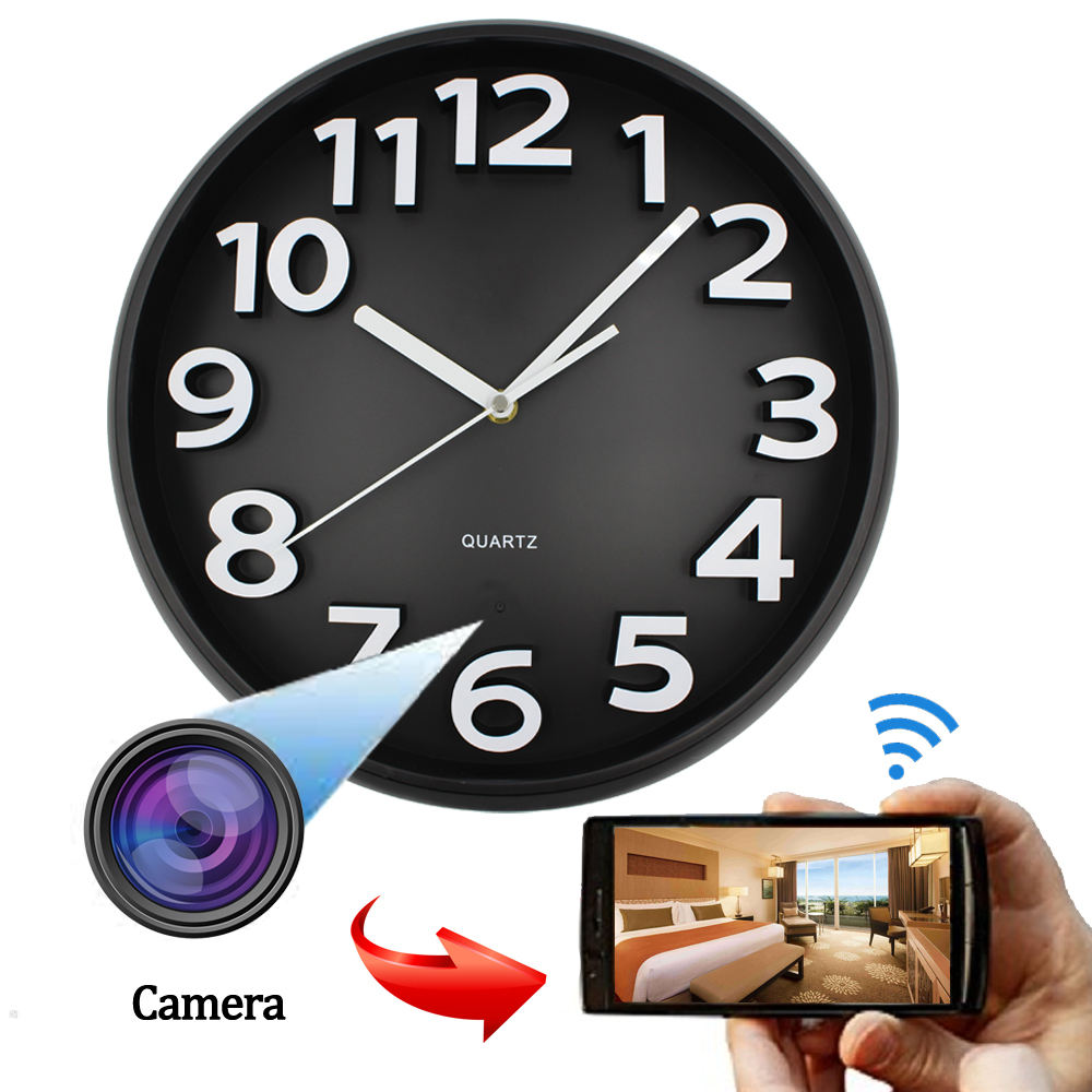 AA-Smart HD 1080p WIFI spy wall clock hidden camera