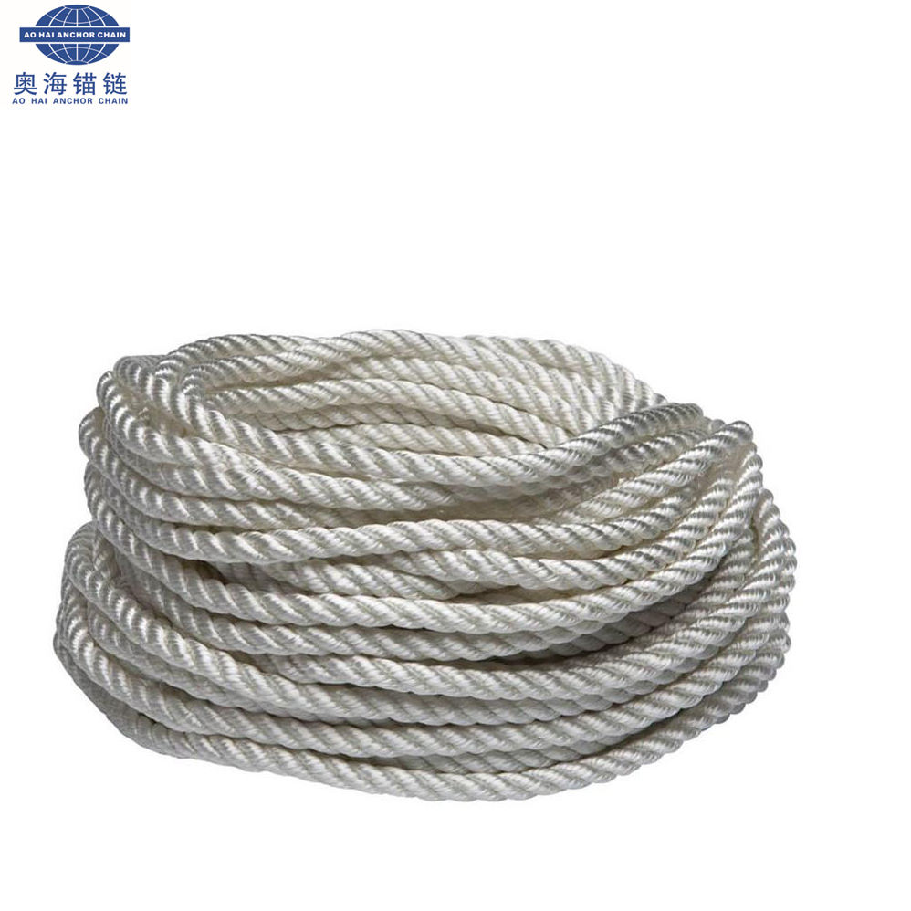 Ntr 3 Strand 4-56mm Nylon Braided Ship Mooring Rope Buoy