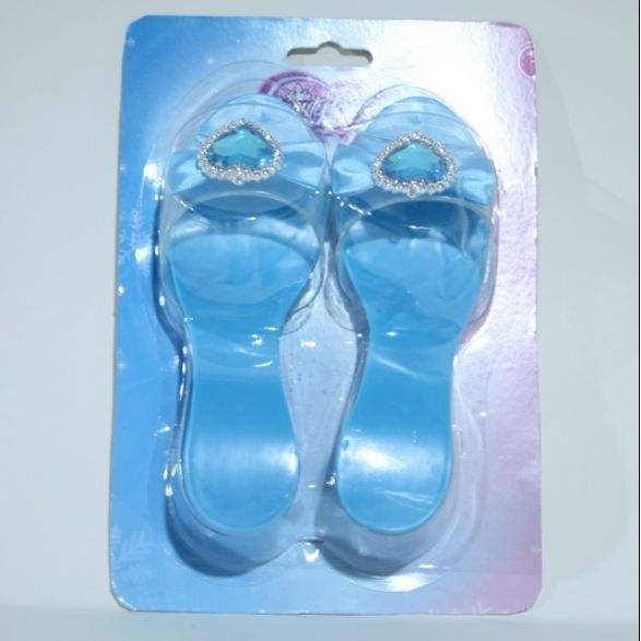 Nueva <span class=keywords><strong>moda</strong></span> set top quliaty para niños azul elegante frozen Elsa princesa zapatos para <span class=keywords><strong>chica</strong></span> Halloween