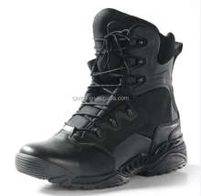 Black military combat tactical boots