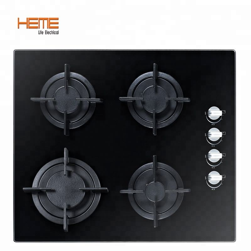 OEM built in gas hob kitchen appliances electricity ignition household tempered glass gas cooktop