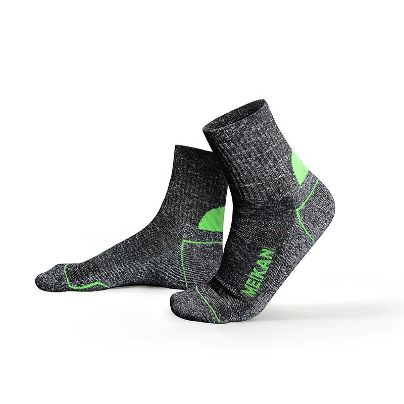 MEIKAN Walking Running Baseball Men Socks Antislip REPREVE Polyester Sports Compression Socks for sports enthusiast