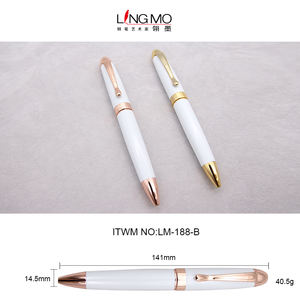 High Quality White Gold Color Twist Ballpoint Pen