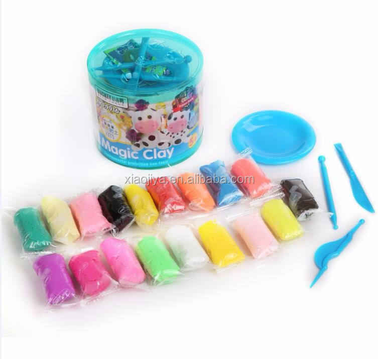 Hot selling stationery 18 colors high quality jumping clay