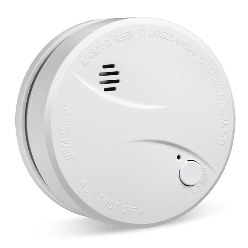 10 year lifespan lithium battery operated independent smoke detector EN14604