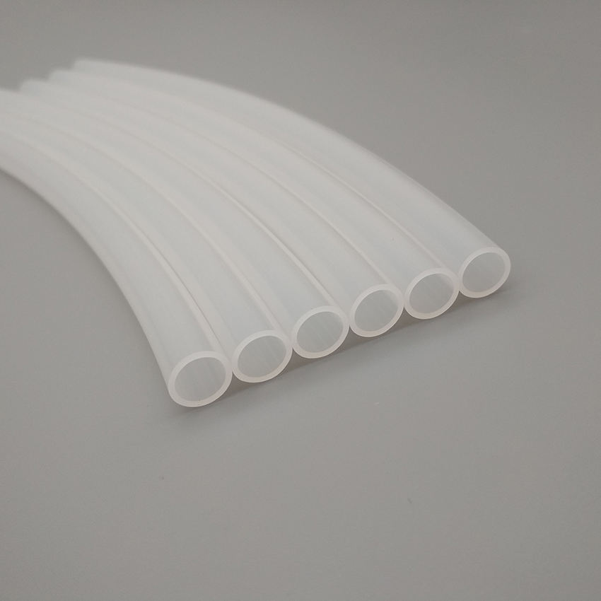 White translucent polyethylene pipe has good electrical insulation