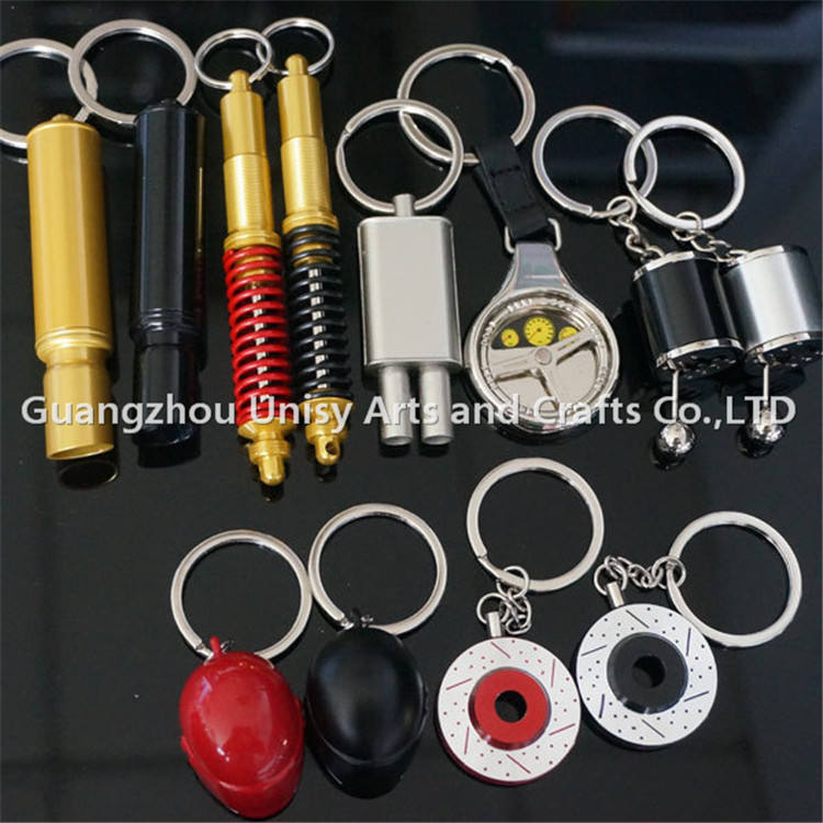 China Cheap wholesale popular Auto Parts key chain Electronic Spining tubine charging tuning key chain ring