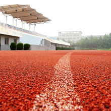 Anti-aging non slip colourful epdm particles rubber floor mat for running track
