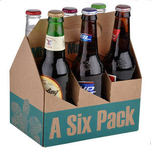 Color printed carton packaging for beer bottles