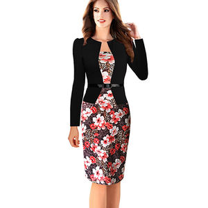 New feeling clothing wrap dress women long sleeve suits lady clothes fashion 2018 in plus size pencil skirt